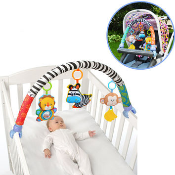 Sozzy Baby Stroller/Bed/Crib Hanging Toys For Tots Cots rattles seat cute plush Stroller Mobile Gifts 88CM Zebra Rattles