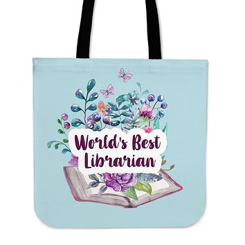 Best Librarian Linen Tote Bag