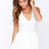 Start It Up Ivory Romper