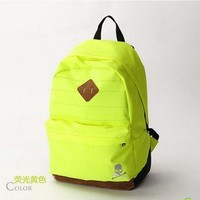 romefashion —  colorful Neon simple style Canvas Backpack