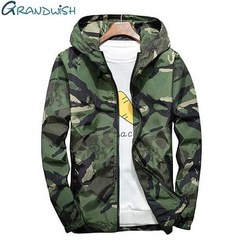 Camouflage Jacket Men Bombers Military Mens Hooded Windbreaker