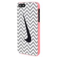 Nike Logo Chevron Graydc iPhone 5 Case Framed Pink