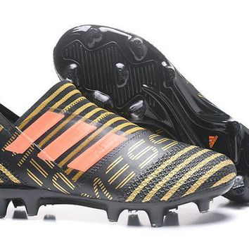 Avalible Adidas Nemeziz Messi 17+ 360 Agility FG Core Black Solar Red Tactile Gold Metallic