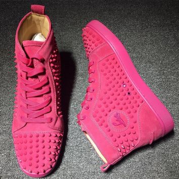 Cl Christian Louboutin Louis Spikes Style #1831 Sneakers Fashion Shoes