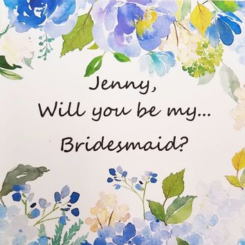 Personalized Will you be in my Wedding.  Ask your  Junior Bridesmaid?  Maid of Honor? #8