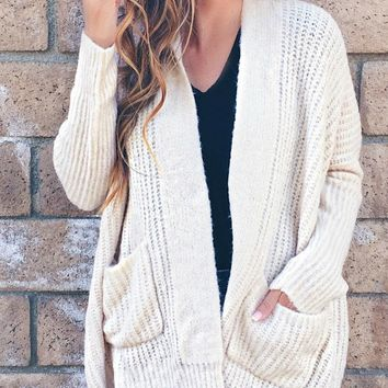 Noelle Ribbed Knit Cardigan