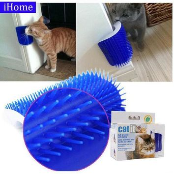 DCCKFS2 Pet Products Cat Massager Wipes Cute Fiddle Artifact Blue Furniture and Scratchers cats furniture play Toy for Cats Brush Comb