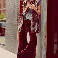 Free People Shay Velvet Wideleg