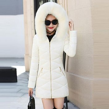 Women's Faux Fur Hooded Jacket