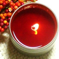 Natural Soy Candle - Pumpkin Spice - Great Fall Scent - Cotton Wick