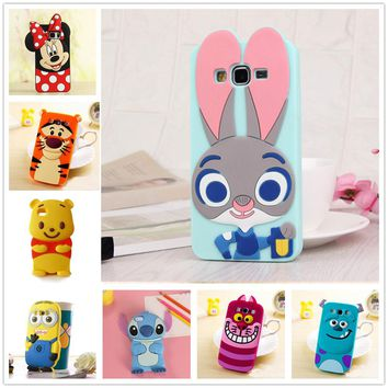 3D Cartoon Soft Silicone Case for Samsung Galaxy S3 Duos S4 S5 Neo S6 S7 edge Grand Prime A3 A5 J1 Mini J3 J5 J7 2016 2015 Cover 1 2