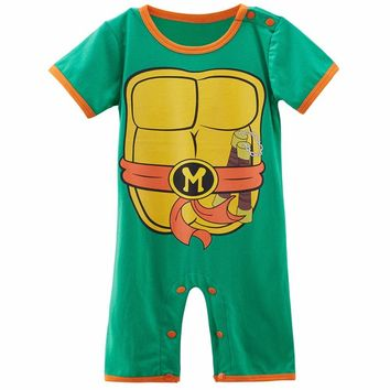 Baby Boy Ninja Turtle Costume Romper Infant Teenage Mutant Funny Jumpsuit