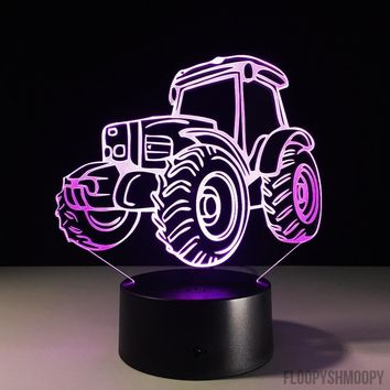Tractor 3D Lamp