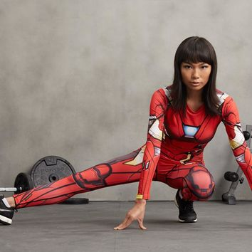 Women Leggings 3D Printed Pattern Captain America Iron Man Compression Pants For Lady Fitness Skinny Leggings Trousers Female