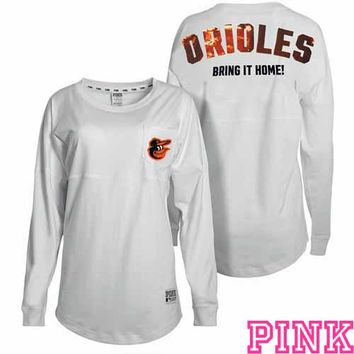 Baltimore Orioles Victoria's Secret PINK® Bling Varsity Crew - MLB.com Shop