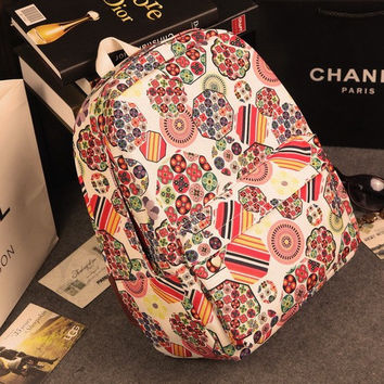 Casual Travel Korean Canvas Backpack = 4887604740