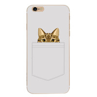 Cute Kitty Cat Case Cover for iPhone 6 6s Plus iPhone 7 7plus + Gift Box-461