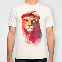 Gym Lion T-shirt by Robert Farkas