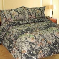 NATURAL FOREST CAMO 6-Piece MicroFiber Sheet Set -Queen-