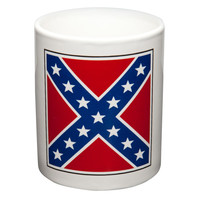 Crossed Rebel Flags Coffee Mug & Flag Set