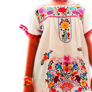 Mexico de colores embroidered bohemian  dress