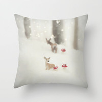 BAMBI **Coming Home** PILLOW  by SUNLIGHT STUDIOS | in 3 SIZES  *** The perfect gift for christmas!