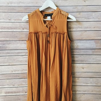 Penelope Camel Dress