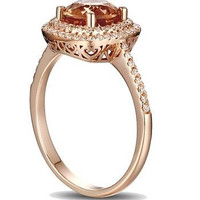 1.77CT CHOCKLATE ROUND CUT SOLITAIRE 925 STERLING SILVER ENGAGEMENT RING FOR HER