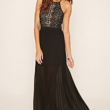 Eyelash Lace Maxi Dress