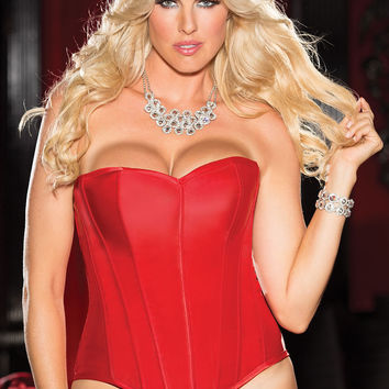 X31044 Satin Corset in Red by Shirley of Hollywood