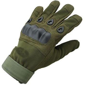 Military Tactical Gloves Antiskid Outdoor Full Cover Finger Mittens Winter Thermal Men Fighting Leather Black Male