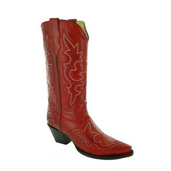 Corral Desert Red Square Toe Leather Boots R1952