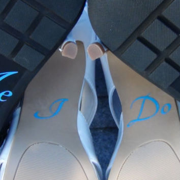 I Do Me Too Vinyl Stickers For Wedding High Heel Shoes Bridal Shower Gift Bride Groom Present Accessories Picture Props