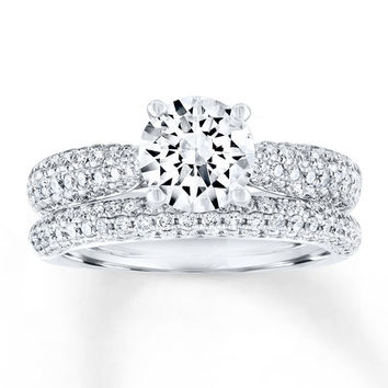Diamond Bridal Set 2-1/2 Carats tw 14K White Gold