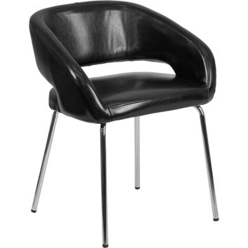 Fusion Black Leather Chair