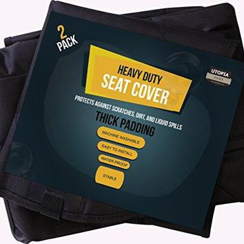 Car Pet Seat Covers - For Front and Back Seat - Scratch Proof and Non-Slip Design for Protecting Cars by Utopia Home (Combo Pack - Front & Back both)