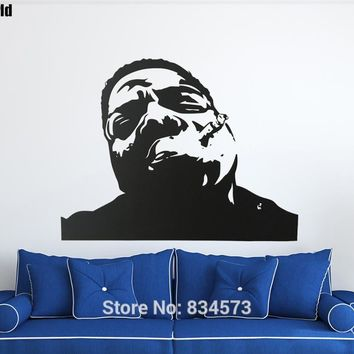 Mad World-Notorious BIG Biggie Hip Hop Rap Wall Art Stickers Wall Decal Home DIY Decoration Removable Decor Wall Stickers
