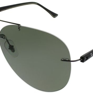 Ray-Ban RB 8058 004/9A Gunmetal Metal Aviator Sunglasses Green Polarized Lens