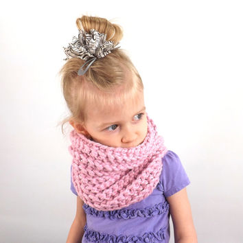 Chunky Kids Cowl /BLOSSOM/, Unisex Childrens Neck Warmer, Gift Idea