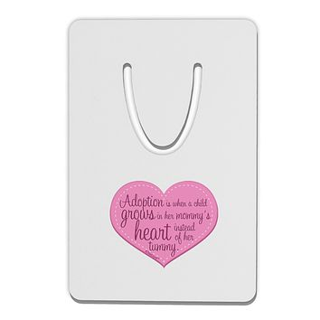 Adoption is When - Mom and Daughter Quote Aluminum Paper Clip Bookmark by TooLoud
