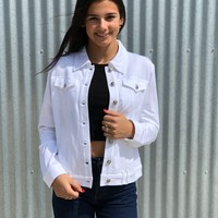 The Perfect White Mom Jean Jacket