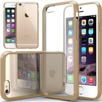 """iPhone 6 Case, Caseology [Clearback Bumper] Apple iPhone 6 (4.7"""" inch) Case [DIY Customization] [Beige] Scratch-Resistant Clear Back Cover [Drop Protection] TPU Hybrid Fusion Best Apple iPhone 6 clear case for 4.7 Inch (for Apple iPhone 6 Verizon, AT&T Spr"""