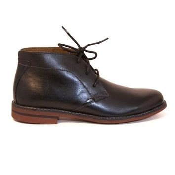 Florsheim Doon Chukka - Black Leather Lace-Up Ankle Boot