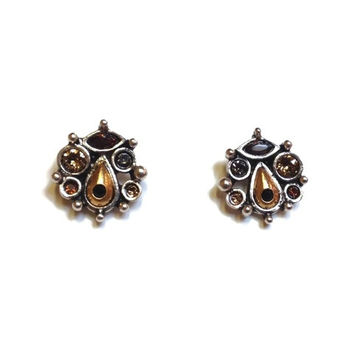 Patricia Locke Jewelry - Mirabell Post Earrings in Tweed
