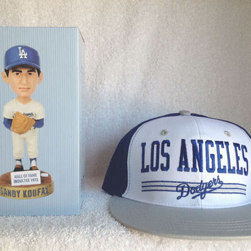 Sandy Koufax Bobblehead and SNAPBACK Logo Hat
