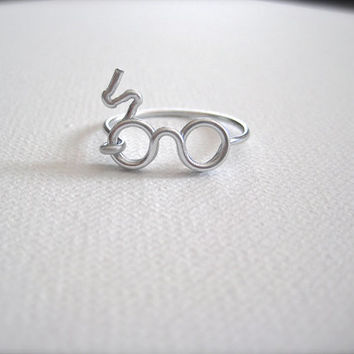 Harry Potter Scar & Glasses Ring  Glasses Ring  Harry by DIYBrides