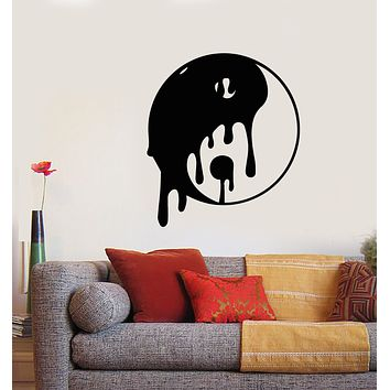 Vinyl Wall Decal Yin Yang Symbol Buddhism Asian Style Stickers (3476ig)