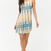 Ornate Watercolor Mini Dress