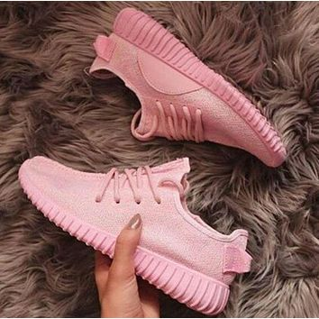 "simpleclothesv £º ""Adidas"" Yeezy Boost Solid color Leisure Sports shoes Pink"