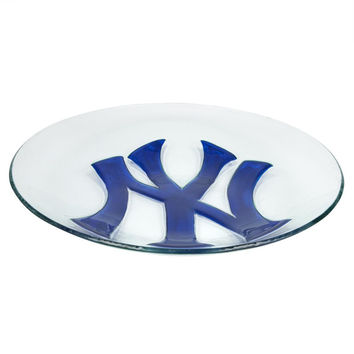New York Yankees - Logo Glass Bird Bath